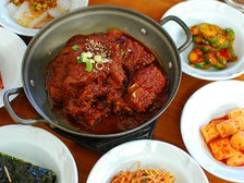 Galbi jjim at Olympic Cheonggukjang