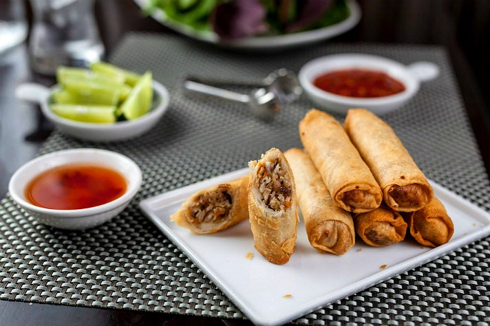 Eggless egg rolls at Au Lac Los Angeles