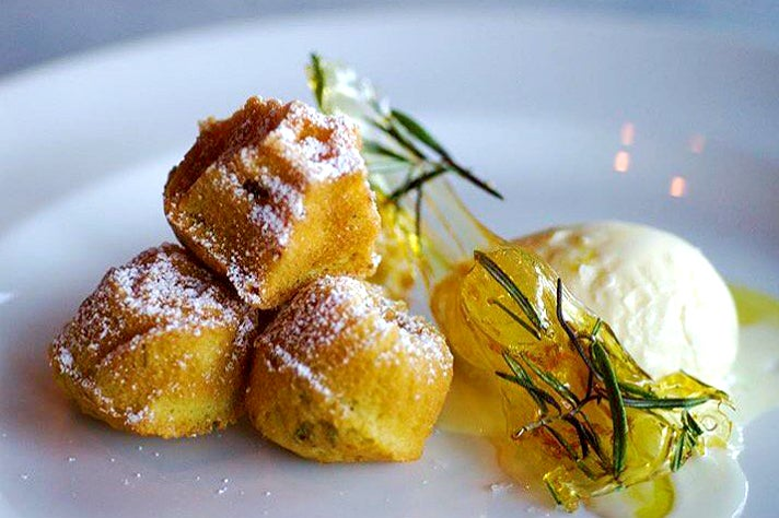 Rosemary olive oil cakes at Osteria Mozza