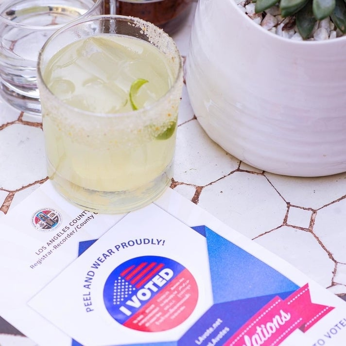 Free Purista Margarita at Gracias Madre on Election Day