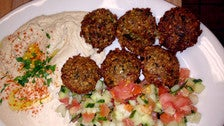 Falafel plate at Habayit