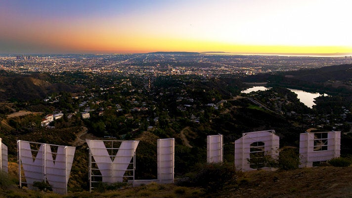 Hollywood Sign viewed from Mount Lee