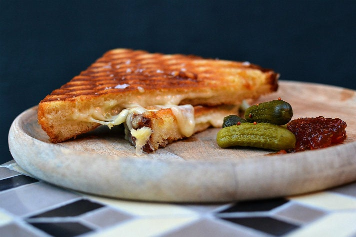 Grilled cheese sandwich at Esters Wine Shop & Bar