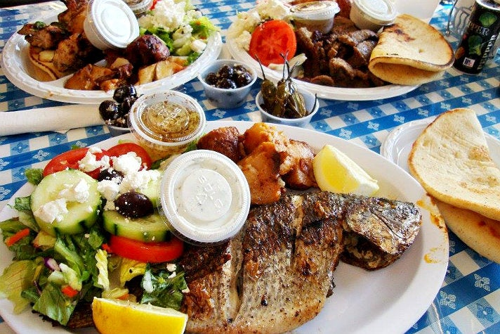 Grilled tsipoura at Papa Cristo's