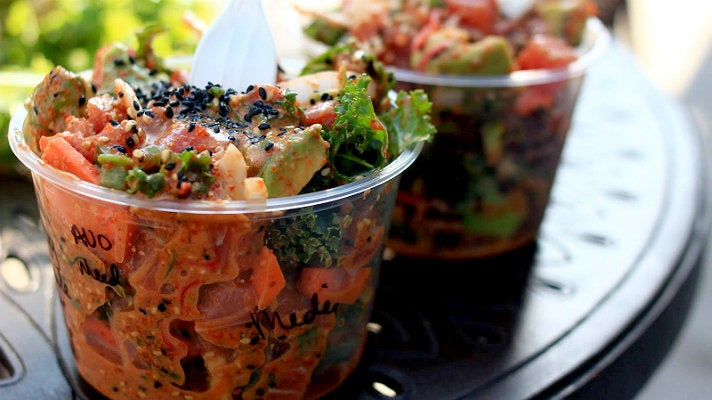 Poke-Poke Hawaiian style in Venice Beach