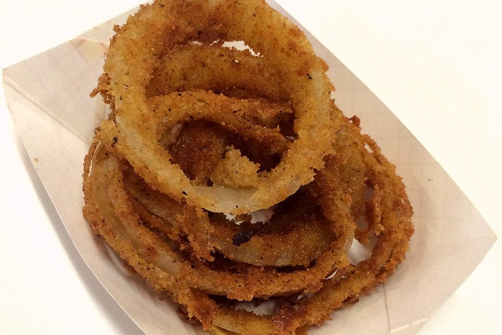Onion rings at The Oinkster Hollywood