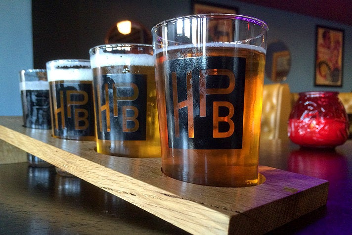 Beer flight at The Hermosillo